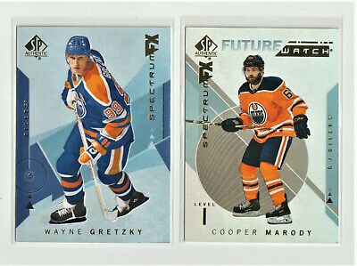 2018-19 SP AUTHENTIC Lot Of 2 SPECTRUM FX GRETZKY & MARODY RC UNSCRATCHED