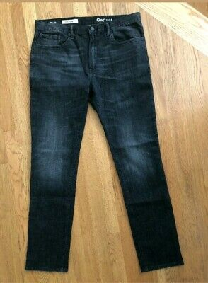 "NWOT! Men's Gap 36 Skinny Faded Black Denim Jeans. Inseam 35""!"