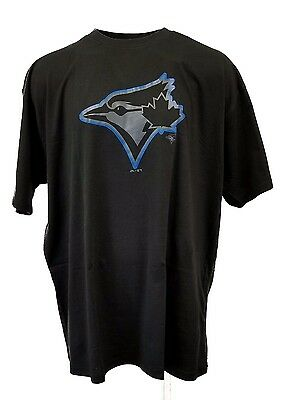 Toronto Blue Jays Black Pop MLB Majestic Team Logo T-Shirt, Mens, Big & Tall
