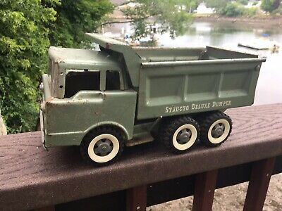 Vintage Structo Pressed Steel Toy Structo Deluxe Dumper 1950's