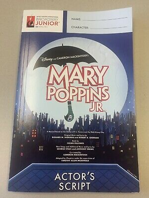 Disney's Mary Poppins Jr. Actor's Script from MTI Broadway Junior