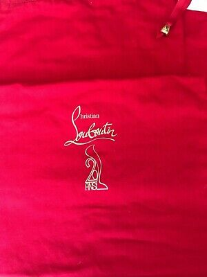 Christian Louboutin Large Red Shoe Boots Dust Bag 20 Ans Years Anniversary