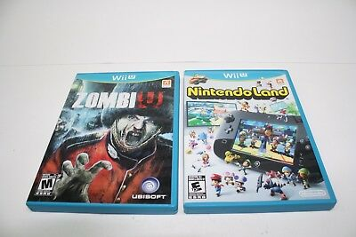 Nintendo Wii U  Video Game  Lot (2)  No Scratch on the CDs.. Fast Shipping