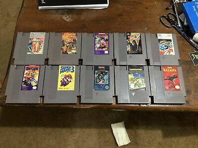 NES (Nintendo Entertainment System) 10 GAME LOT *Cleaned & Tested* Authentic