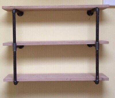 Wall Mounted Industrial Piping Vintage Retro Style Metal Shelving. Brackets Only