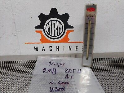 Dwyer RMB 0-600 SCFH AIR Flowmeter Used With Warranty