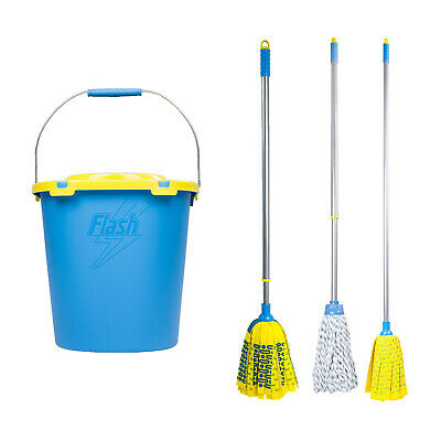 Flash Microfibre Mop with Fixed Handle Mighty & Duo Mop with Extending Handle