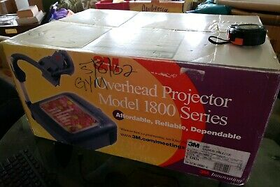 3M overhead projector model 1800 OH11800AJZ ENX lamp barely used