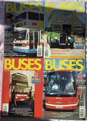 Buses Magazines x 4 1999 March, April, May, June