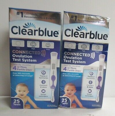 (2) Clearblue Connected Ovulation Test System 25 Tests Exp:09/19 & 08/20 SEALED