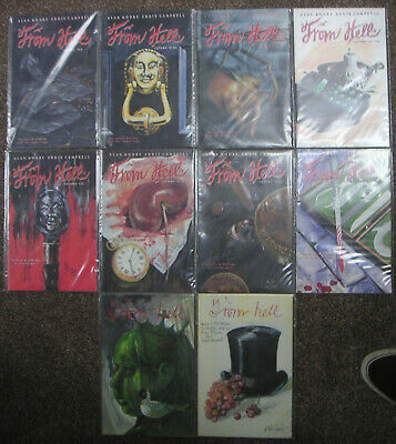 Alan Moore Eddie Campbell From Hell 1st print complete set mint condition