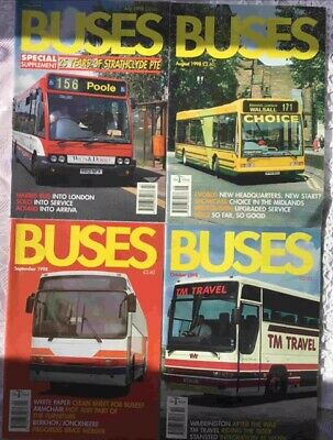 Buses Magazines x 4 1998 July, Aug, Sept, Oct