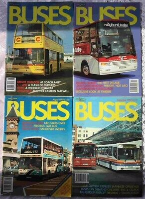 Buses Magazines x 4 1997 Feb, March, April, May