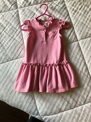 EUC Janie & Jack Girls 6-12 Months Pink SPRING Dress Free Shipping Perfect!