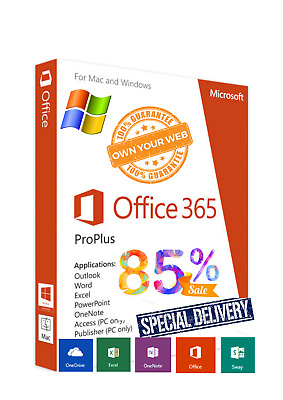 Microsoft Office 365 Home Business 5 Devices Windows Mac INSTANT DELIVERY 5TB
