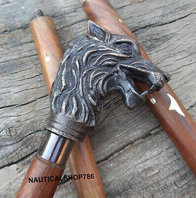 Antique Dragon Handle Head Walking Stick Vintage Replica Christmas Gifting Item