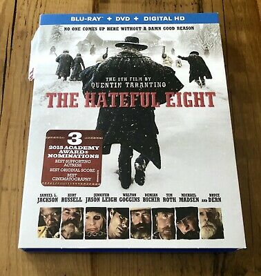 The Hateful Eight (Blu-ray/DVD, 2016, 2-Disc Set) NO DIGITAL CODE