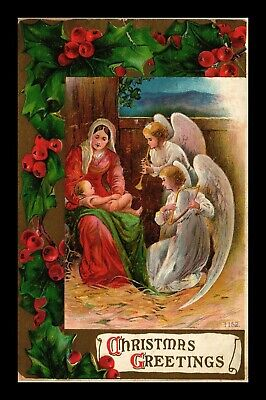 Dr Jim Stamps Us Angels Mary Baby Jesus Christmas Greeting Postcard 1909