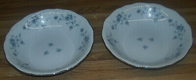 "Johann Haviland Bavaria Germany Blue Garland 7 1/2"" Soup Bowls/TWO Bowls/NEW"