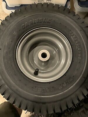(TWO) 15x600-6 15/6.00-6 Carlisle Turf Saver Tires And Wheels Combo Set 2Ply
