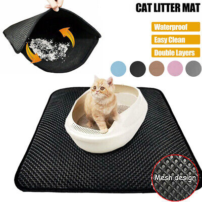 Waterproof Urine Cat Litter Mat Large Trapper Sifting Foldable Pad Pet Rug S-XL