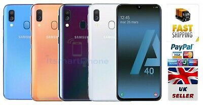 Sealed Samsung Galaxy A40 (2019) 64GB DualSIM 4G LTE Android Smartphone 4COLOURS