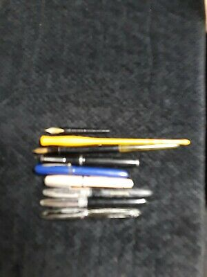 Vintage Lot Of Fountain Pens Sheafer, Esterbrook, Carter, Wearever