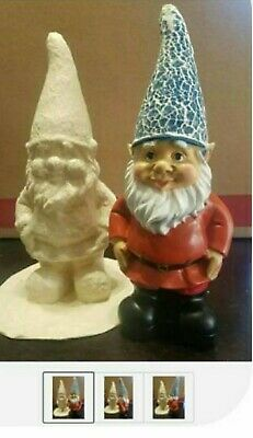 "Latex only 11"" gnome mold plaster concrete  garden mold made and ready 2 ship"