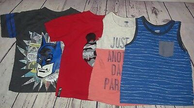 boys size 2T lot of 4 summer tank tops t-shirts
