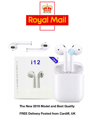 i12 TWS Bluetooth 5.0 Earphone Wireless Smart Touch Control Ear pods