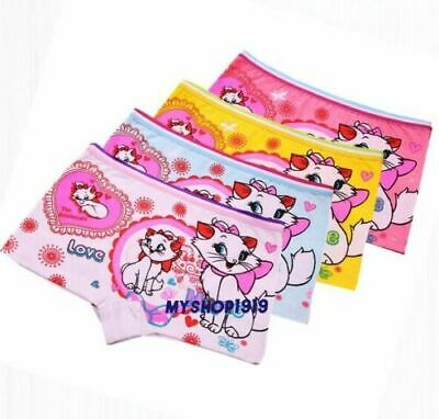 3 Pack Girls Boxer Shorts Underwear Briefs Cotton Soft Knickers Age 2-10 Years