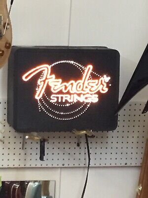 Fender Guitar Strings Fiber Optic Dealer Sign