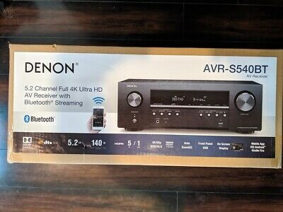 DENON AVR-S540BT 5.2 Ch. 4K Ultra HD AV Receiver with Bluetooth and Dolby Vision