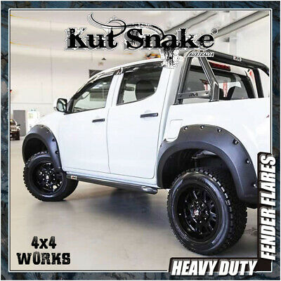 Kut Snake Wheel Arches Fender Flares Isuzu D-Max (2012-on) Wide