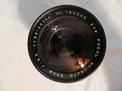 FOCAL MC AUTO ZOOM 1:3.5  f=80-200mm NO.784345    67 LENS WITH CASE