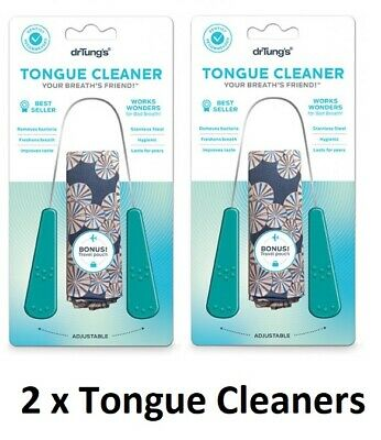 Dr. Tung's Stainless Steel Tongue Cleaner 2 Pack
