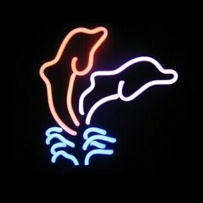 Double Dolphin Neon Sculpture - Free Shipping!