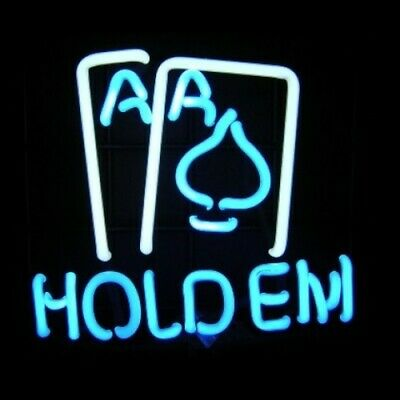 Hold Em Neon Sculpture - Free Shipping!