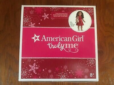 """American Girl Truly Me  Tis The Season Party Dress 18"""" Doll Clothes NEW in Box"""