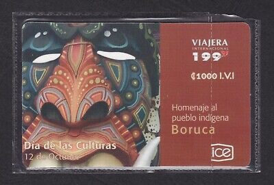 🇨🇷Costa Rica Phone Card • 2010 • 50K Issued • Mint / Unopened • Boruca •