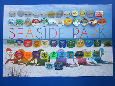 47  Year  Collection  Of  Seaside  Park,  New  Jersey Seasonal Beach Badges/Tags