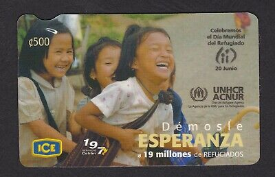 🇨🇷Costa Rica Phone Card • 2006 • 500K Issued • Mint / Unused • Refugiados •