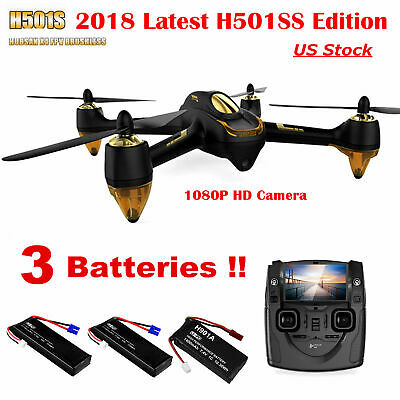Hubsan X4 H501S S Pro Drone 5.8G FPV Brushless Quadcopter 1080P GPS RTH RTF New