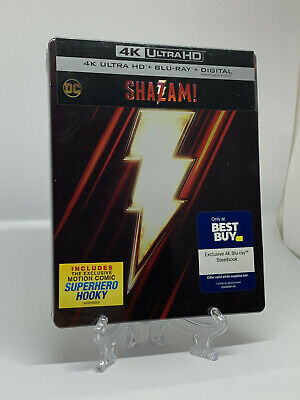 Shazam Steelbook (4K UHD/Blu-ray/Digital) NEW SEALED W/ Protective Sleeve