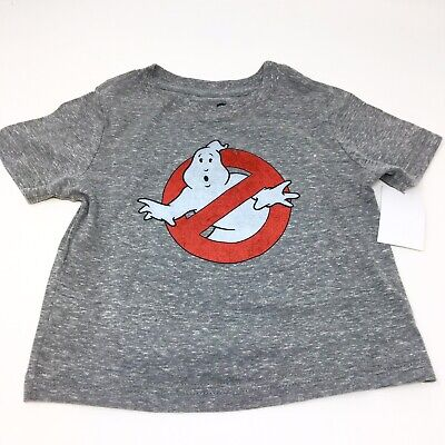 Little Boys Ghostbusters Short Sleeve T-Shirt 12 Months Grey Red Halloween NWT