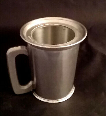 Raimond English Pewter Glass Bottom Tankard