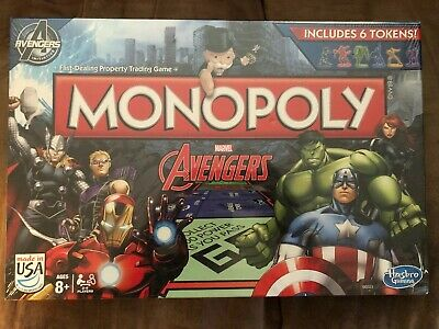 Monopoly Marvel Avengers Edition Board Game New Sealed Hasbro