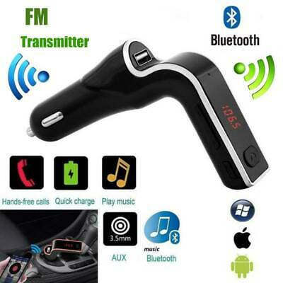Bluetooth FM Transmitter USB Car Charger Wireless Radio Adapter MP3 TF Player CA