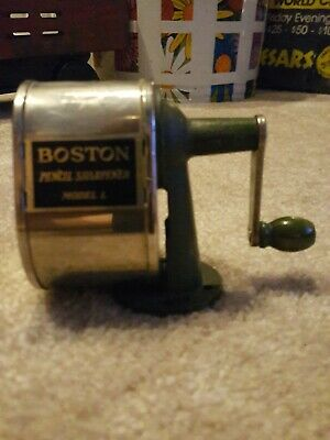 "Vintage Boston Model L Pencil Sharpener Wall Desk Mount School Office ""Mint"""