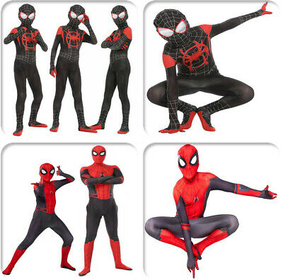 Spider-Man Far From Home Adults Kids Peter Parker Zentai Cosplay Costume Suit IT